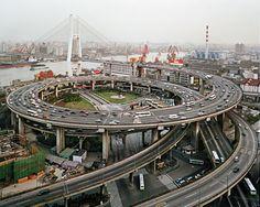Nanpu Bridge (Shanghai, China) by the Shanghai Municipal Engineering Design Institute, Shanghai Urban Construction College, and Shanghai Urban Construction Design Institute, with assistance from Holger S. Svensson