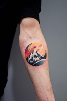 Share Tweet Pin Mail This colorful forearm tat. Martyna's style is often…