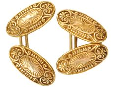 Ode to Apollo: Edwardian Gold Cufflinks - The Three Graces