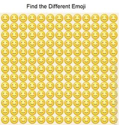 O Emoji, Emoji Games, Brain Teasers With Answers, Brain Teasers Riddles, Funny Illusions, Cool Optical Illusions, Funny Puzzles, Logic Puzzles, Find The Difference Pictures
