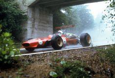 """Christopher Arthur """"Chris"""" Amon (NZ) (Scuderia Ferrari), Ferrari 312/68 - Ferrari Tipo 218 3.0 V12 (RET)1968 German Grand Prix, Nürburgring Nordschleife"""