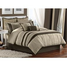Tuscany 12-Piece Comforter Set - Bed Bath & Beyond. Not sure how I feel about the two large shams and the decorative pillow....