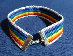 Whether you love rainbows or want to show your pride (either as a member, friend, or supporter of the LGBTQA community), this rainbow bracelet will