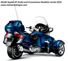 2010  BRP/ Can-Am Spyder RT Audio and Convenience Roadster 998cc