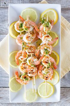 Easy peasy LEMON squeezy! That's the perfect way to describe this delicious Lemon Shrimp #Kabobs!