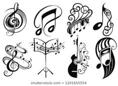 Make sure you visit our information site for a lot more about this striking music tattoo Music Drawings, Music Artwork, Art Drawings, Music Tattoo Designs, Music Tattoos, Music Doodle, Doodle Art, Cross Stitch Music, Musik Illustration