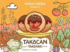 Takocan Cover designed by Intan Cheria. Connect with them on Dribbble; the global community for designers and creative professionals. Cloud Kitchen, Takoyaki, Show And Tell, Cover Design, Behance, Japanese, Comics, Drawings, Creative