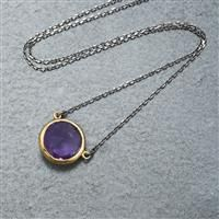 3.05cts. Amethyst. Rhodium/Gold Plated Sterling Silver. | EBBE20 | NOWSEEN.com