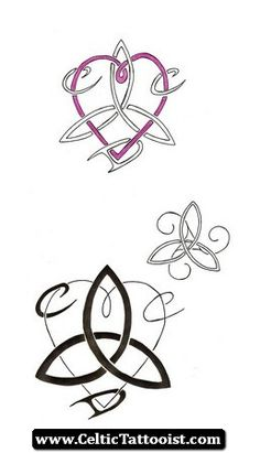 These tattoo designs are for my older sister who wanted a three sisters motif. Looking up some celtic designs, and bringing some together, I came up with these. Then I added our three first name initials. For the bottom one (a heart and triquetra), I le Sister Foot Tattoos, Sister Symbol Tattoos, Three Sister Tattoos, Sister Tattoo Designs, Sibling Tattoos, Friend Tattoos, Celtic Tattoo Symbols, Celtic Tattoos, Celtic Sister Knot