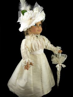 """Edwardian Titanic Gown Fits American Girl 18"""" Doll Little Charmers Doll Desn 