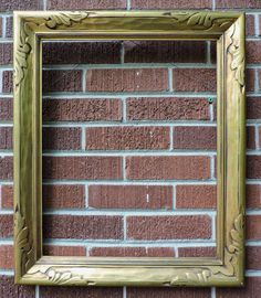 Antique GILDED Gold ARTS & CRAFTS Art Deco CARVED Picture Frame 16 x 20 c1920s #ArtsCraftsMissionStyle #unknown
