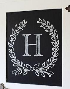 initial chalkboard design