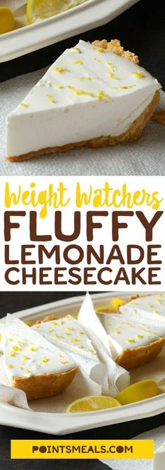 Fluffy Lemonade Cheesecake #weight_watchers #Cheesecake #dessert