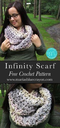 Crochet Infinity Scarf   Caron Spinkle Cake   Caron Cake   Free Crochet Pattern