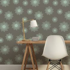 Kaleidoscope Stars Wall Stencil from Royal Design Studio