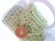 Coffee Cozy in Light Sage Green Coffee by MontanaDaisyGirl on Etsy