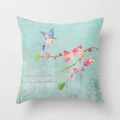 My favorite weather  Throw Pillow 20% Off + Free Worldwide Shipping on All #Pillows, #Blankets and #Duvets - Today Only!