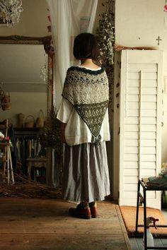 vlas blomme crochet shawl