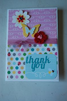 Thank You Card - Scrapbook.com  perfect for the flowers I crochet!