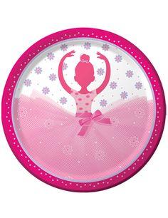 8 piatti in cartone Ballerina 23 cm su VegaooParty, negozio di articoli per feste. Scopri il maggior catalogo di addobbi e decorazioni per feste del web,  sempre al miglior prezzo!