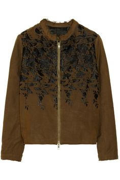 By Walid|Embroidered silk bomber jacket|NET-A-PORTER.COM
