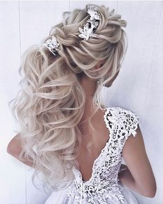 Hair Hair relationship values - Relationship Goals Elegant Wedding Hair, Wedding Hair And Makeup, Hair Wedding, Boho Wedding, Loose Hairstyles, Bride Hairstyles, Everyday Hairstyles, Hairdos, Bridal Braids