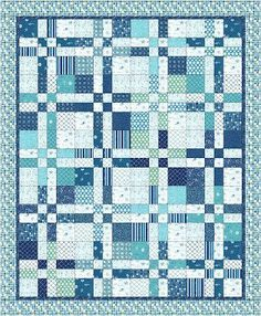 Moda Bake Shop: Landlocked Sea Lover's Quilt based on a disappearing 4 patch blockModa Bake Shop: Landlocked Sea Lover& Quilt Super Love this fabric! Saw it today in a quilt and I know I& going to have to add it to the stash! Love this beautiful land-lock Layer Cake Quilt Patterns, Layer Cake Quilts, Quilt Block Patterns, Quilt Blocks, Layer Cakes, Charm Pack Quilt Patterns, Free Baby Quilt Patterns, Free Pattern, Poke Cakes