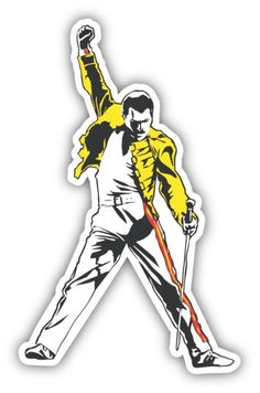 Decal printed on white vinyl paper. Band Stickers, Phone Stickers, Cool Stickers, Printable Stickers, Freddie Mercury, Prince Charmant, Tumblr Stickers, Aesthetic Stickers, Sticker Design