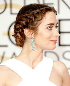 Emily Blunt's Grecian Braids