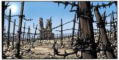 "La mandiguerre.Picture from page 25 of ""Le reverse de la medaille"".Tome III.  Text: JD Morvan.  Art: Stefano Tamiazzo.   #delcourt #morvan #bd #manga #comics #fumetti #stefanotamiazzo #tamiazzo #lamandiguerre #steampunk"