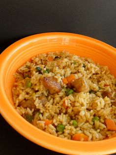 Pork Fried Rice; I didn't have enough pork chops to make a regular meal out of, but this was a great way to use them up!