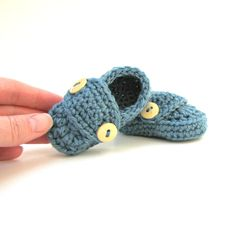 Baby Boys Booties / Newborn Shoes / by cherlynnephotography, $16.00