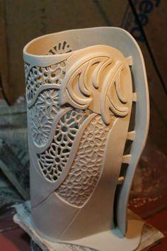 Ceramic Clay Vase Porcelain Ceramics Slab Pottery
