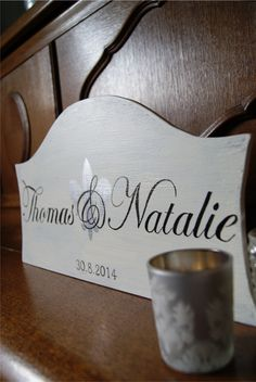 handmade sign for wedding. Handmade Wedding, Wedding Signs, Place Cards, Place Card Holders, Wedding Plaques, Wedding Tags, Wedding Signage