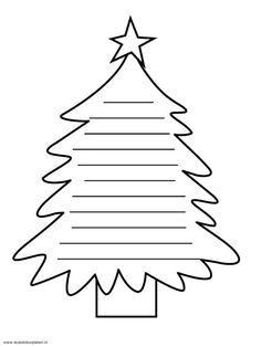 Rhyming Christmas Trees  Christmas tree template Christmas