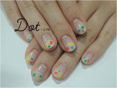 ZOZOPEOPLE   Dot+LIM nail - カラフル