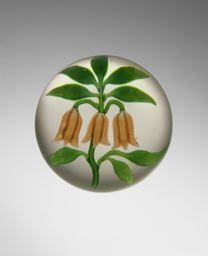 Baccarat Glassworks  French, founded 1764, Salmon-Colored Bouquet Paperweight, 19th century. Art Institute of Chicago.