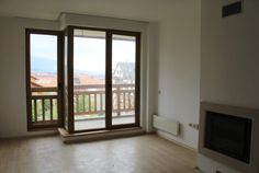 Large unfurnished 1 bedroom apartment for sale in St John Park Bansko. Water Boiler, Fitted Bathroom, Living Place, 1 Bedroom Apartment, Cupboard Storage, Open Plan Kitchen, Apartments For Sale, 2nd Floor, Table And Chairs