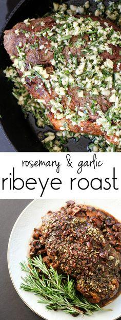 Rosemary & Garlic Ribeye Roast from The Ruby Kitchen