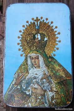 caja de hojalata virgen macarena dulce de membr - Comprar Cajas antiguas y cajitas metálicas en todocoleccion - 200121640 Antiques, Metal, Painting, Fictional Characters, Box, Collection, Sweet Treats, Tin Boxes, Old Crates
