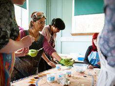 Mango Mosiacs workshop @ Thimblemill Library (image by Dee Patel)