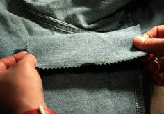 Easy ways to fix your denim. Holey Jeans, Patched Jeans, My Jeans, Denim, How To Patch Jeans, Sewing Hems, Costume Patterns, Clothing Hacks, Useful Life Hacks