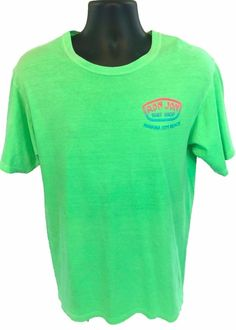 965c9864a RON JON Surf Shop Panama City Beach Men's T-Shirt Size Medium Neon Green  Cotton