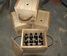 Wooden Beer Bottle Crate