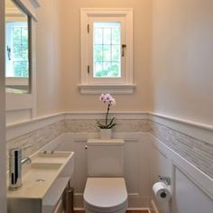 great for small place...Powder Room Design Ideas, Pictures, Remodel, and Decor