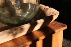 Rustic wood and glass at...  Like, repin, share Thanks!