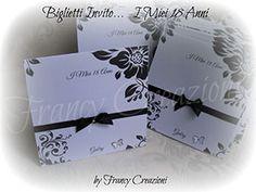 Biglietti invito fatto a mano. Handmade invitation cards.