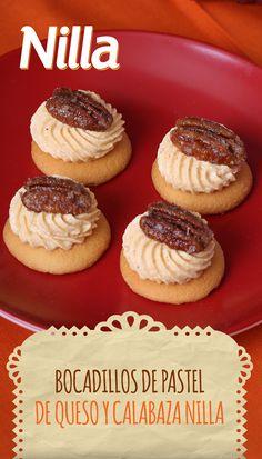 Estos deliciosos minipostres son una celebración de sabores latinoamericanos. Calabaza, nuez garapiñada y canela, todo sobre una deliciosa galleta NILLA. El postre perfecto para la fiesta de tus familiares y amigos.