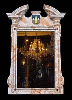 Impressive Large Carved Marble Overmantel in the Palladian Manner