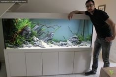 New Customer Tank (1 day old). Aquascaping by Oleg Foht